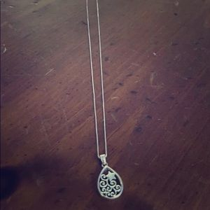 Sterling silver necklace- star